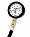 Longacre Standard Tire Gauge 0-15 by 1/4 lb with Ball Chuck