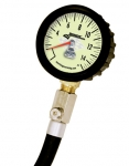 Longacre Standard Tire Gauge 0-15 by 1/4 lb - GID with Ball Chuck